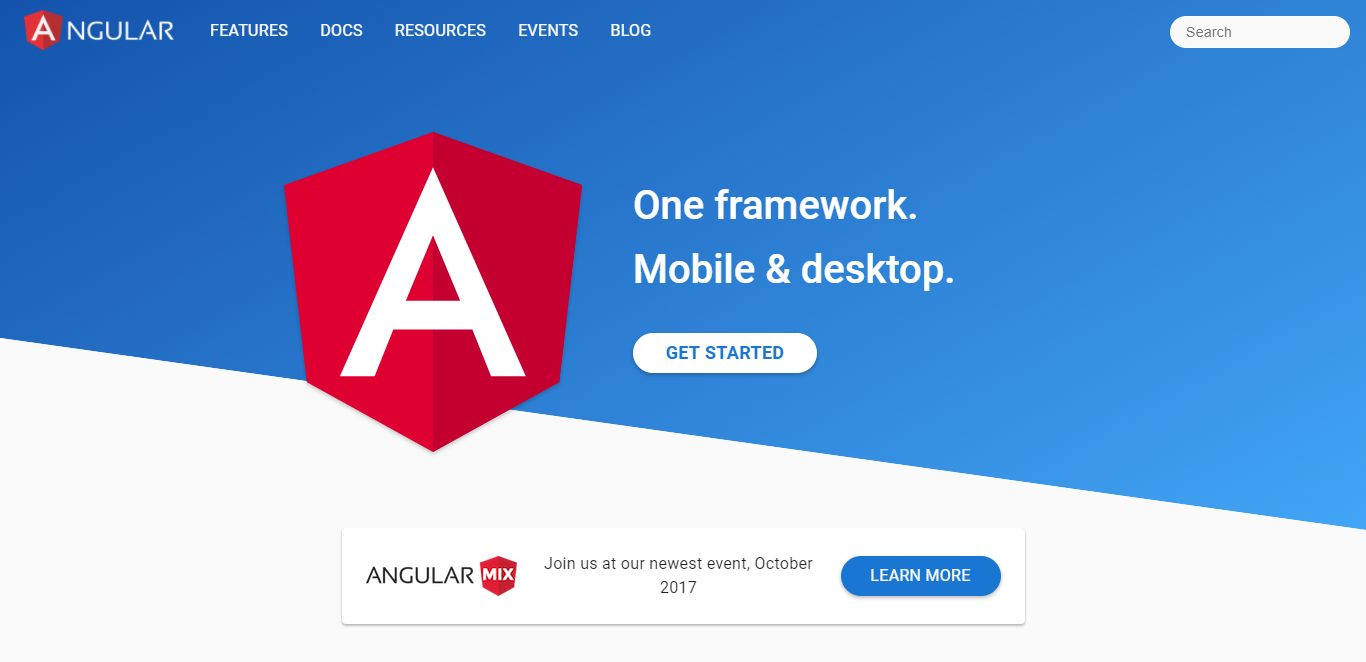 Angular: One framework to rule them all