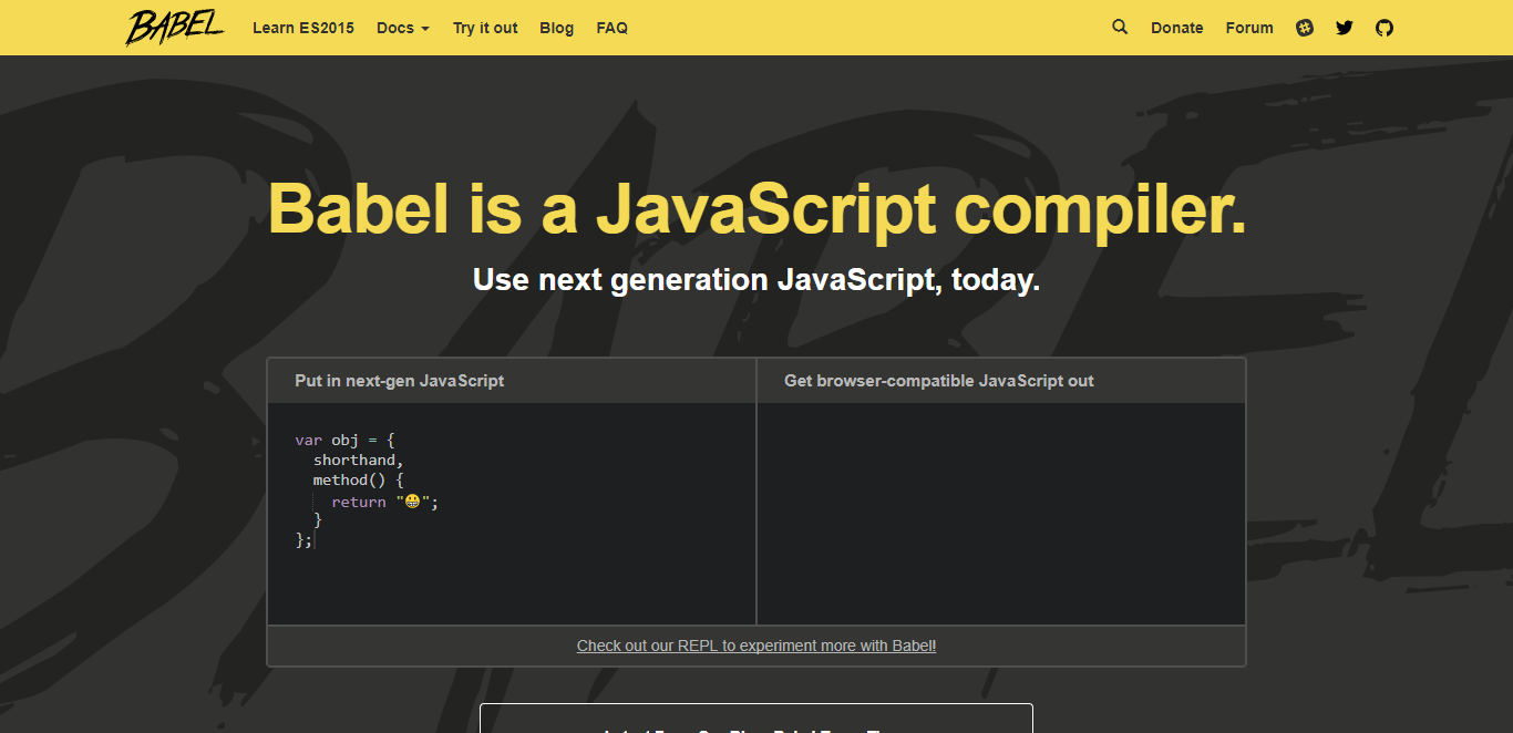 Babel allows developers to write code using the latest version of JavaScript without sacrificing compatibility with older browsers