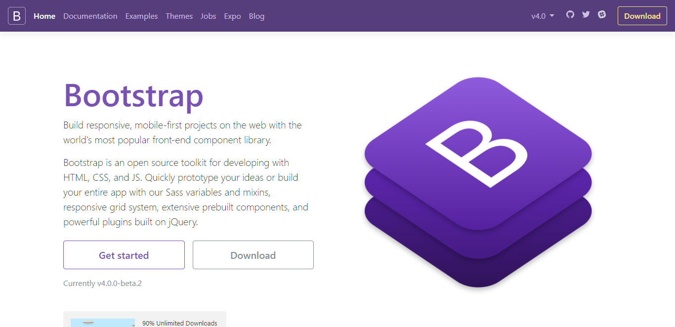 Bootstrap website screenshot