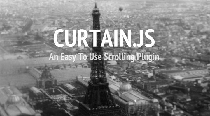 Curtain js scrolling parallax plugin