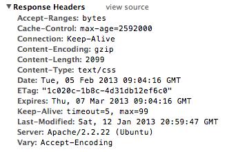 Inspecting Response Headers in Chrome Dev Tools
