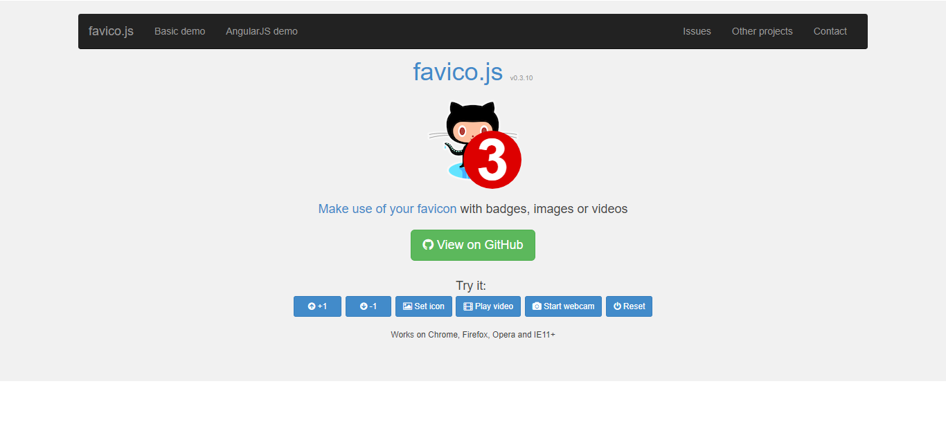 Favico.js Website screenshot