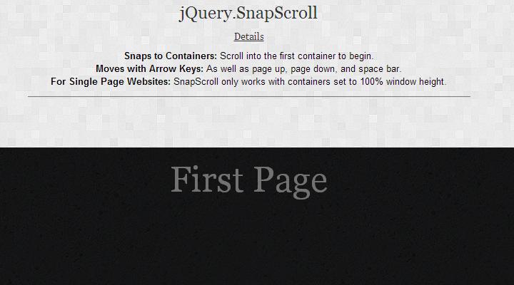 jquery snapscroll snap plugin parallax
