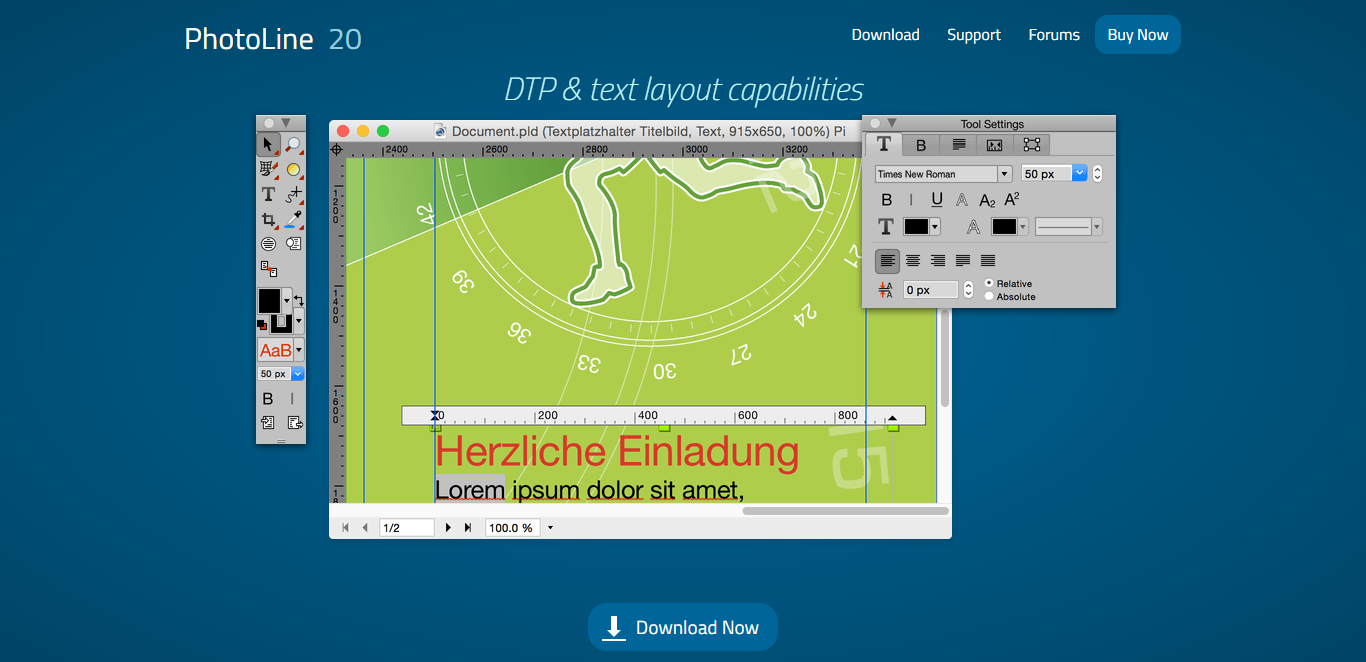 Photoline Image Processing Design Software