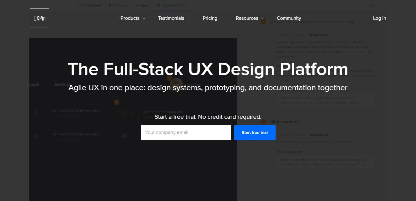 UXPin I The Full-Stack UX Design Platform